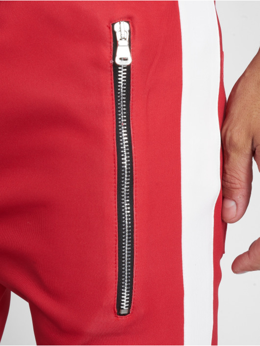 VSCT Clubwear Sweat Pant Stripe with Zip Pocket red