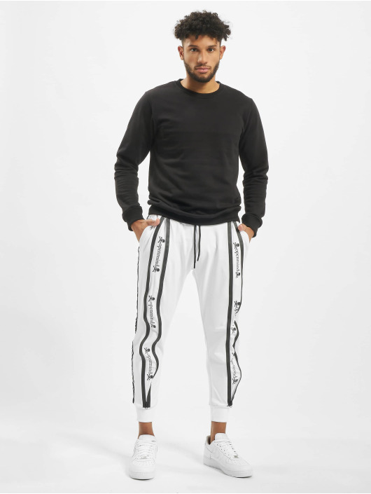 VSCT Clubwear Sweat Pant Tapered Antifit Zipped white