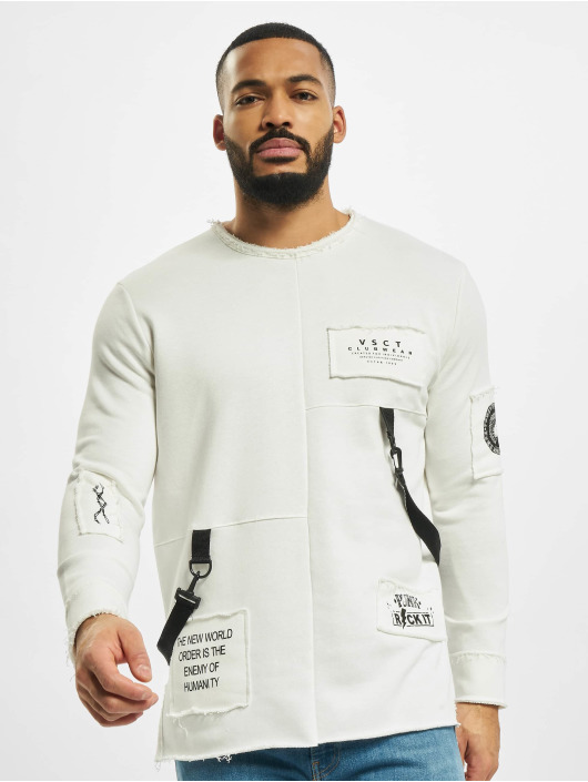 VSCT Clubwear Swetry Tape-Patches bezowy