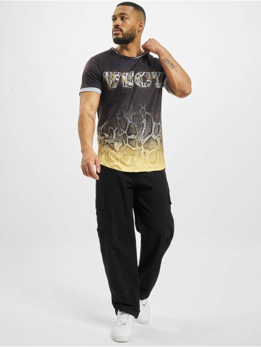 VSCT Clubwear T-paidat Graded Snakeskin Logo musta