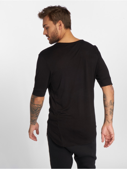 VSCT Clubwear T-Shirt 1/2 Cut Collar black