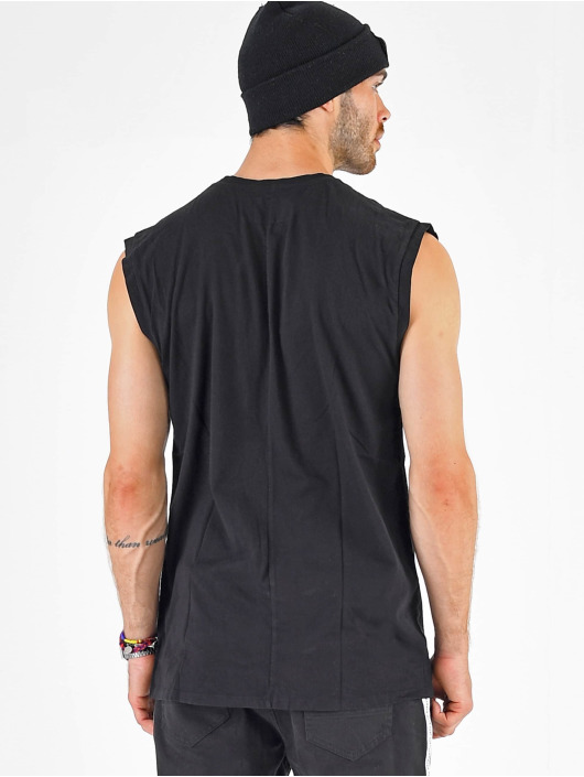 VSCT Clubwear T-Shirt Sleep F**k Rave Sleeveless black