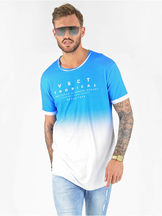 VSCT Clubwear T-shirt Graded Logo Sky Cloud blu