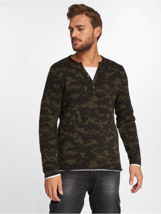 VSCT Clubwear T-Shirt manches longues Buttoned Double Optic camouflage