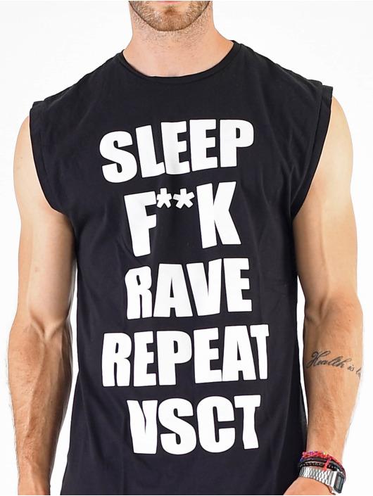 VSCT Clubwear T-Shirt Sleep F**k Rave Sleeveless noir