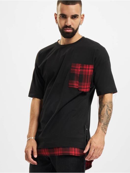 VSCT Clubwear T-Shirt Check 2 In 1 Hybrid schwarz