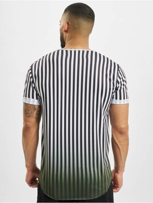 VSCT Clubwear T-shirt Graded Coach Striped Logo vit