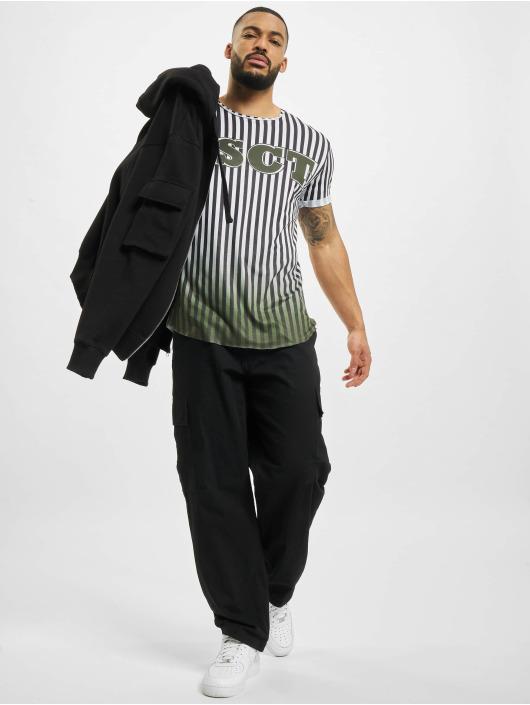VSCT Clubwear T-Shirt Graded Coach Striped Logo weiß