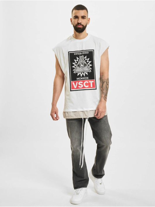 VSCT Clubwear t-shirt 2 In 1 Eye Oversize wit