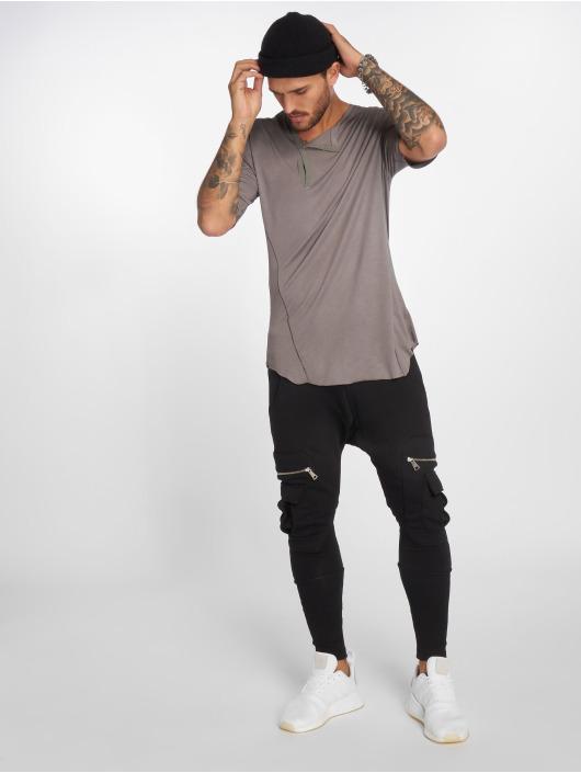 VSCT Clubwear T-Shirty 1/2 Cut Collar szary
