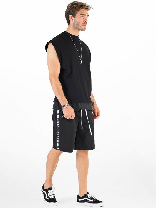 VSCT Clubwear T-skjorter Luxury Double Hem Laces Sleeveless svart