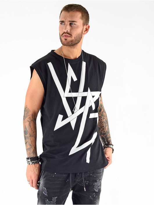 VSCT Clubwear Tank Tops Sharp Logo Sleeveless čern