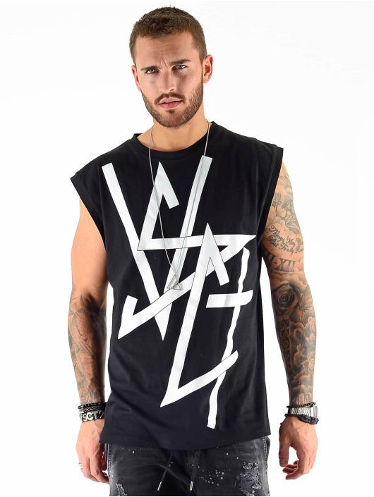 VSCT Clubwear Tank Tops Sharp Logo Sleeveless czarny