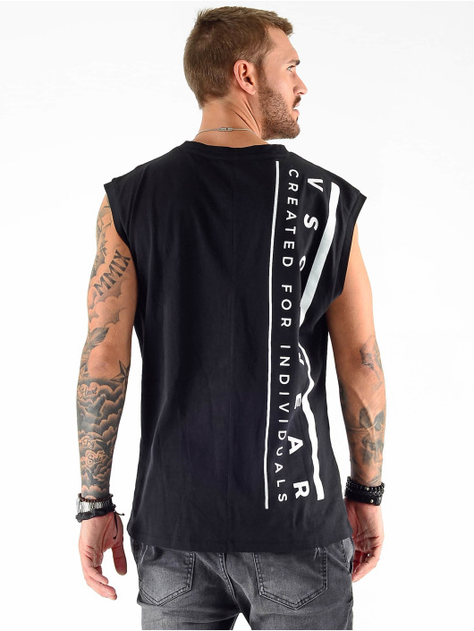 VSCT Clubwear Tank Tops Sharp Logo Sleeveless svart