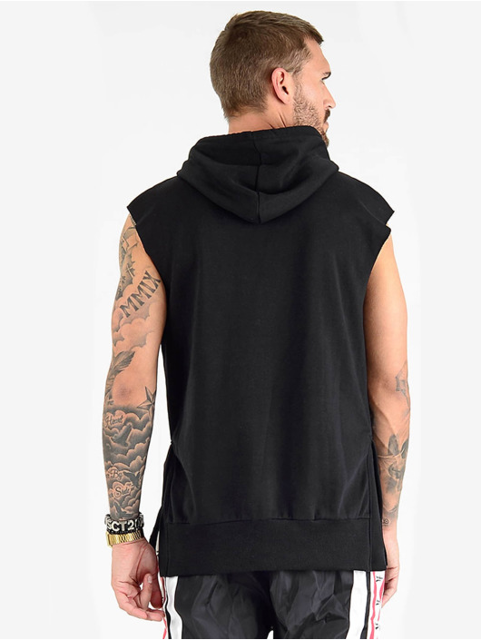 VSCT Clubwear Tank Tops Clubwear Logo Hooded svart