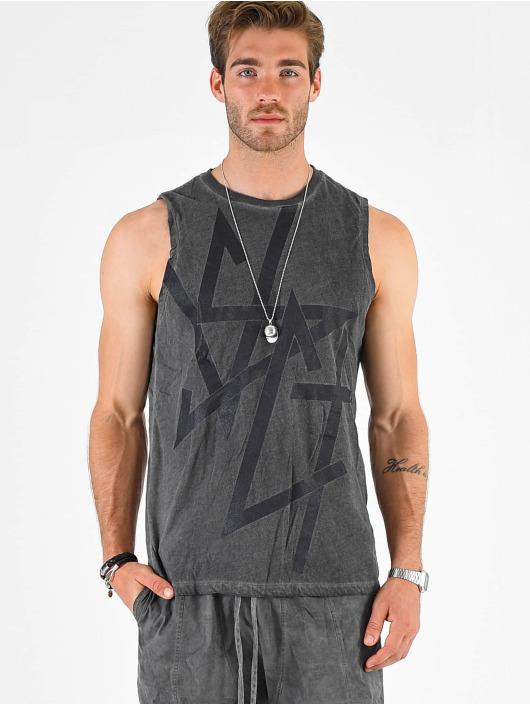 VSCT Clubwear Tank Tops Sharp Logo Sleeveless szary