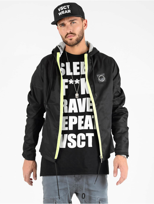 VSCT Clubwear Transitional Jackets Conzraast Neon Zipper svart