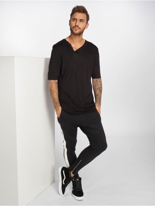 VSCT Clubwear Tričká 1/2 Cut Collar èierna