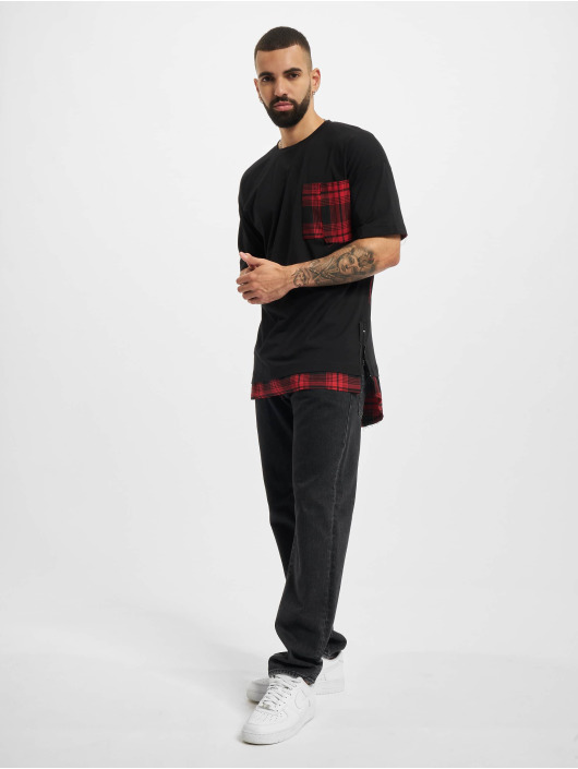 VSCT Clubwear Tričká Check 2 In 1 Hybrid èierna