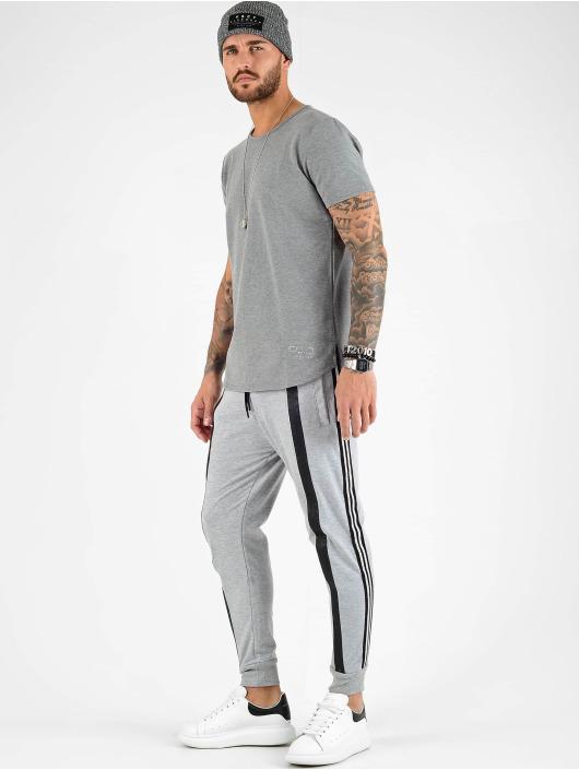 VSCT Clubwear Tričká Luxury Basic šedá