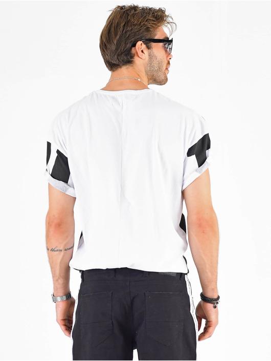 VSCT Clubwear Tričká Letter Logo Turn biela