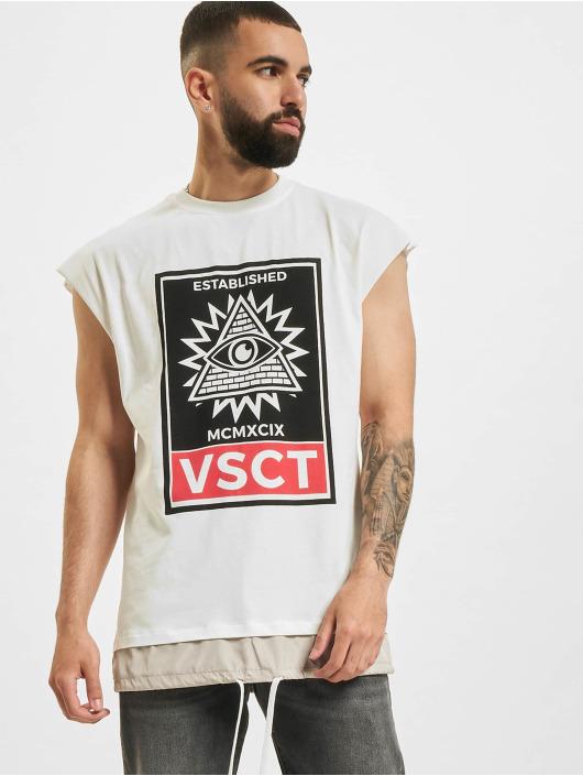 VSCT Clubwear Tričká 2 In 1 Eye Oversize biela