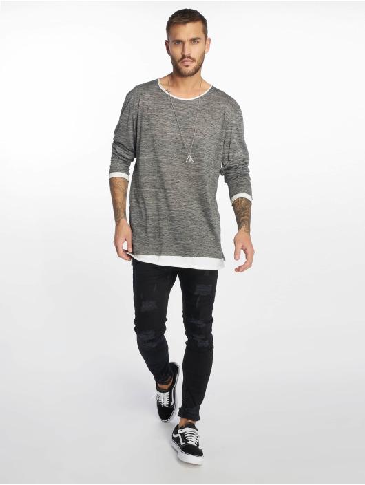 VSCT Clubwear Tričká dlhý rukáv 2 in 1 šedá