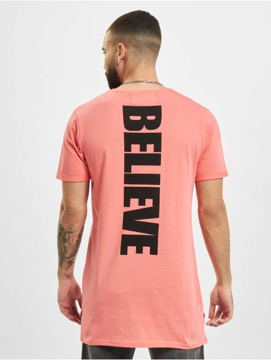 VSCT Clubwear Tričká Logo Believe Back pink