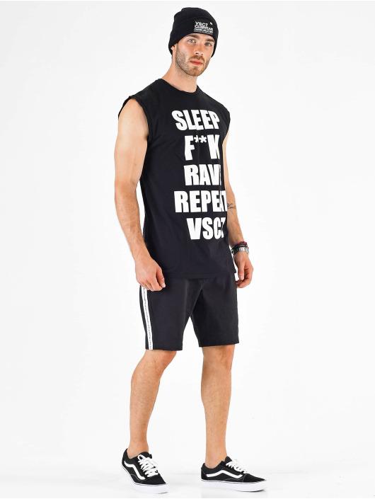 VSCT Clubwear Trika Sleep F**k Rave Sleeveless čern