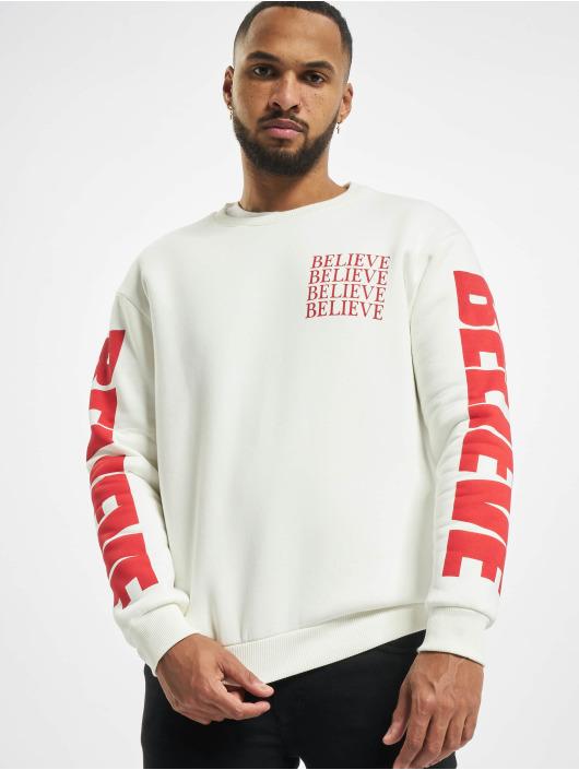 """VSCT Clubwear trui """"believe"""" 80ies wit"""