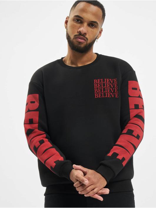 """VSCT Clubwear trui """"believe"""" 80ies zwart"""