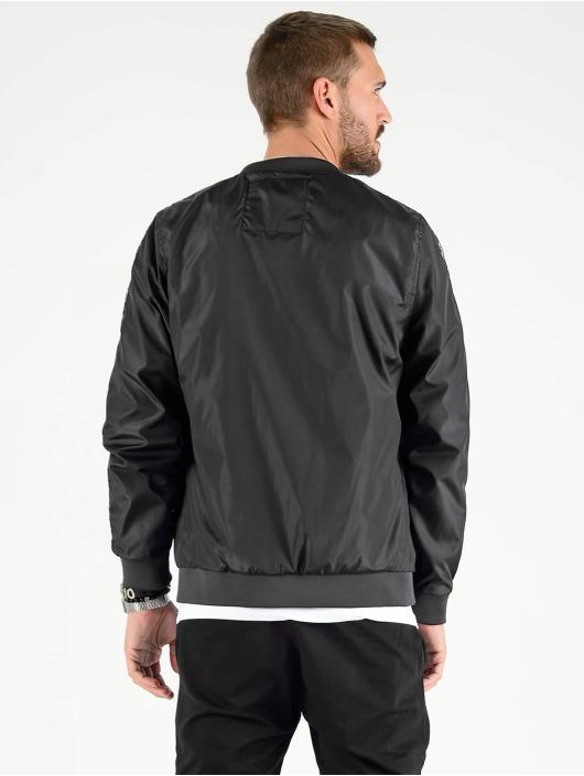 VSCT Clubwear Übergangsjacke Skull Striped schwarz