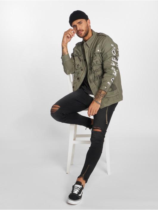 VSCT Clubwear Välikausitakit Handpaint Military harmaa