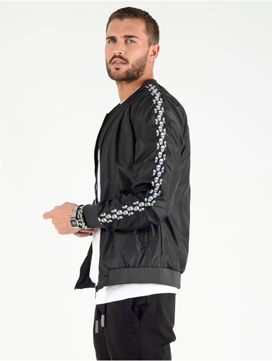 VSCT Clubwear Välikausitakit Skull Striped musta