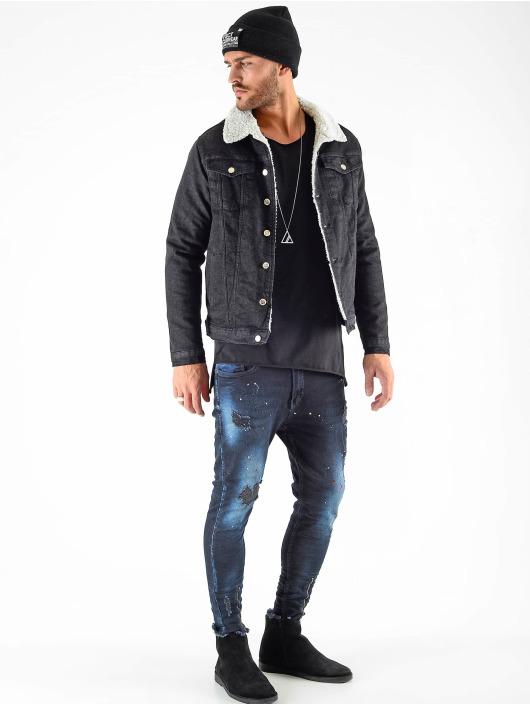 VSCT Clubwear Välikausitakit Denim Trucker Sheepcoll musta