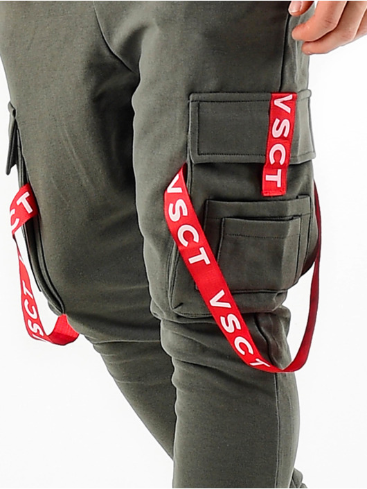 VSCT Clubwear Verryttelyhousut Jogger Logo Tape khakiruskea