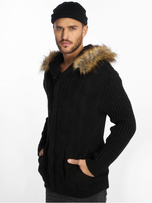 VSCT Clubwear vest Hooded zwart