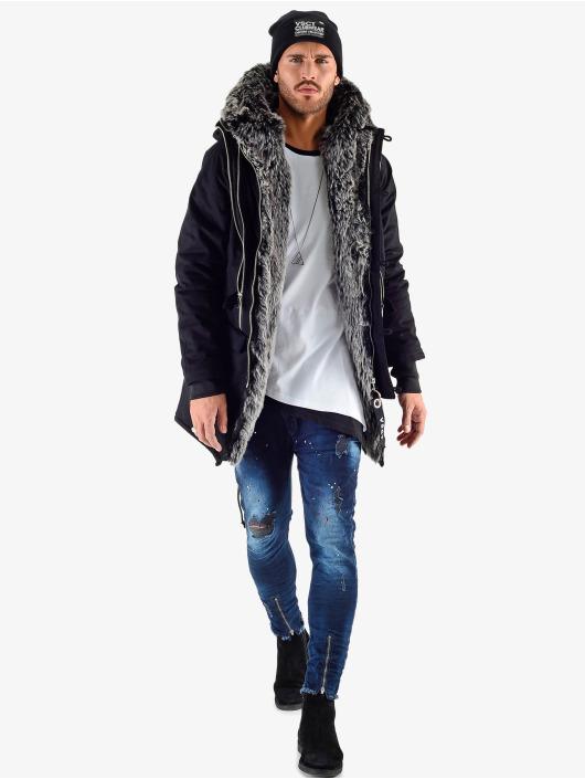 VSCT Clubwear Vinterjakke Double Zipper Luxury svart
