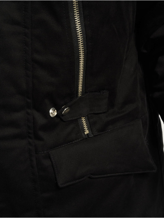 VSCT Clubwear Winter Jacket Double Zipper Huge Luxury black