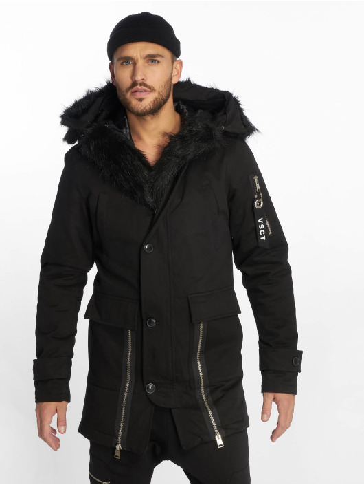 VSCT Clubwear Winter Jacket Zip Decor black