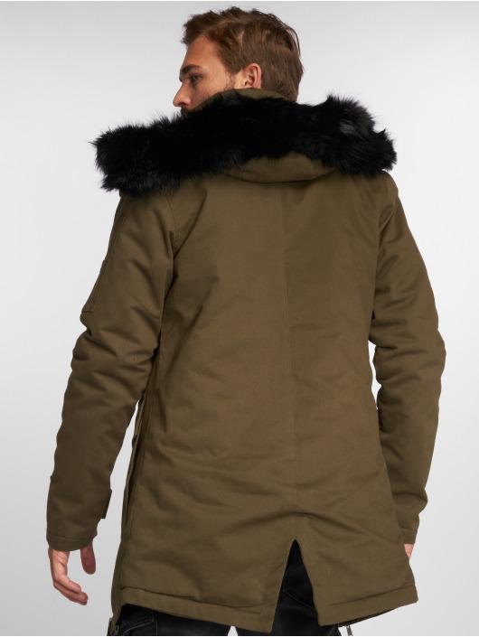 VSCT Clubwear Winterjacke Zip Decor khaki