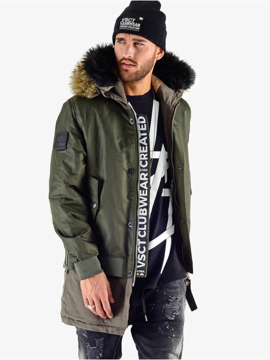 VSCT Clubwear Luxury Parka With Detachable Sherpa Navy