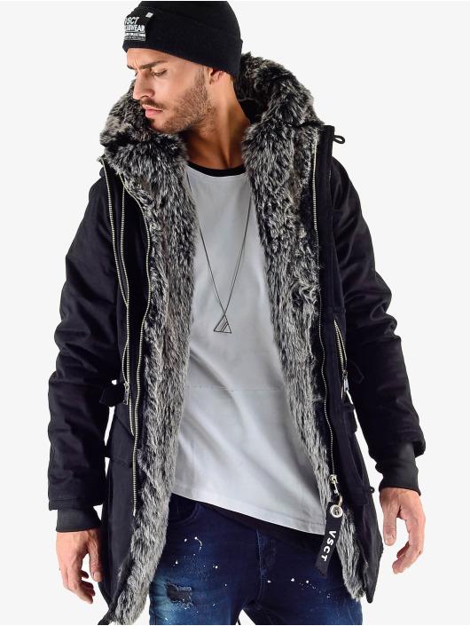 VSCT Clubwear Winterjacke Double Zipper Luxury schwarz