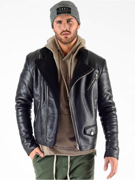 VSCT Clubwear Winterjacke Sheepskin schwarz