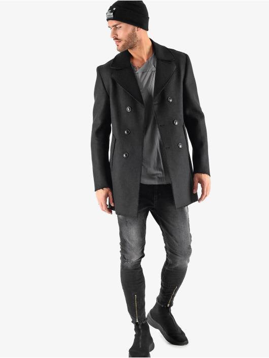 VSCT Clubwear winterjas Sophisticated 2 BtnRows zwart