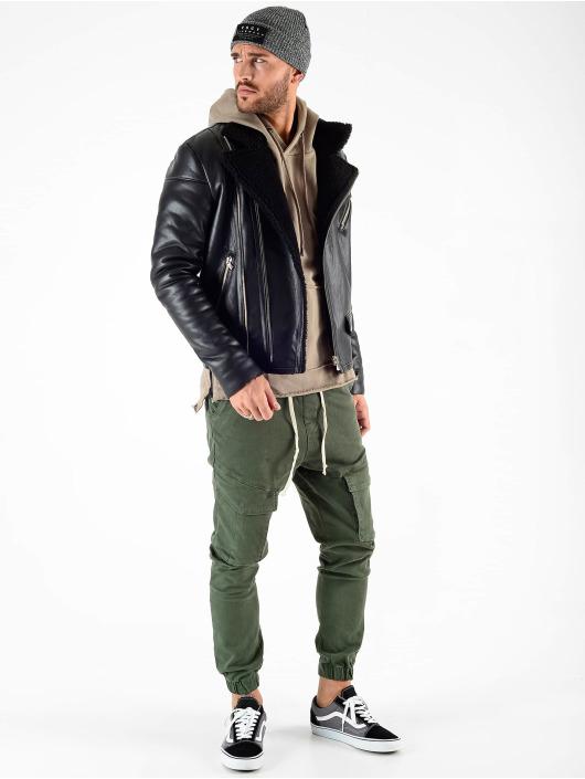 VSCT Clubwear winterjas Sheepskin zwart