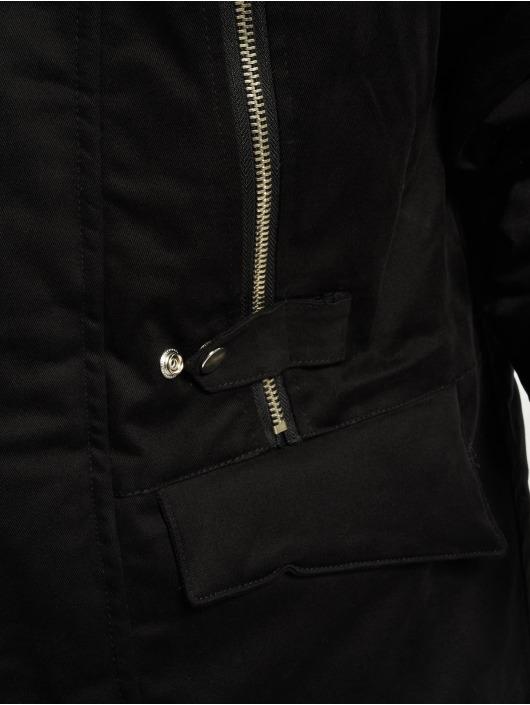 VSCT Clubwear Zimní bundy Double Zipper Huge Luxury čern