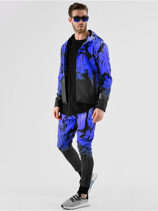 VSCT Clubwear Zip Hoodie Graded Tech Fleece Hooded Leaf-Camo blå