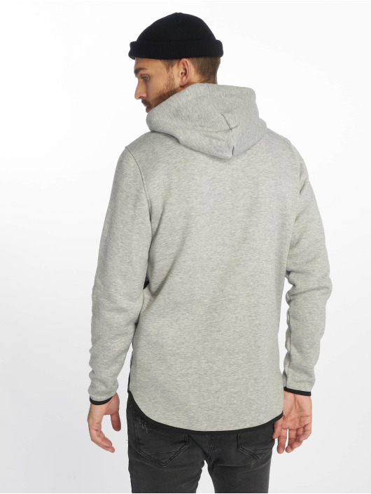 VSCT Clubwear Zip Hoodie 2 Colour Amour Mix Fabric grau