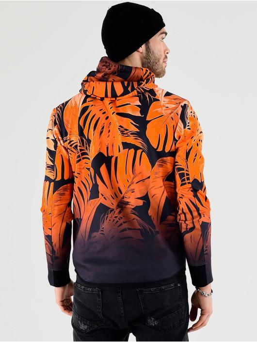 VSCT Clubwear Zip Hoodie Graded Tech Fleece Hooded Leaf-Camo orange